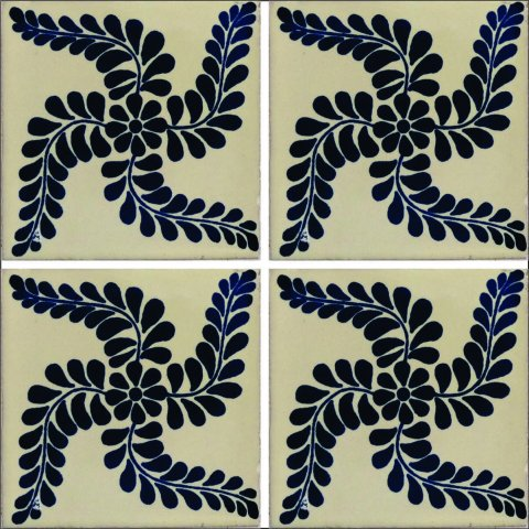 New Items / Talavera Tile 4x4 inch (90 pieces) - Style AZ002 / These beatiful handpainted Mexican Talavera tiles will give a colorful decorative touch to your bathrooms, vanities, window surrounds, fireplaces and more.