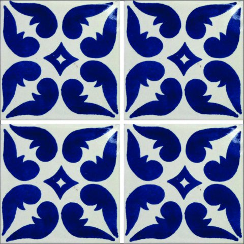 New Items / Talavera Tile 4x4 inch (90 pieces) - Style AZ025 / These beatiful handpainted Mexican Talavera tiles will give a colorful decorative touch to your bathrooms, vanities, window surrounds, fireplaces and more.