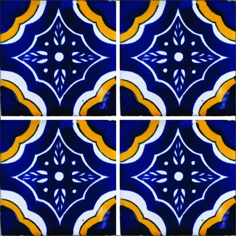 New Items / Talavera Tile 4x4 inch (90 pieces) - Style AZ040 / These beatiful handpainted Mexican Talavera tiles will give a colorful decorative touch to your bathrooms, vanities, window surrounds, fireplaces and more.
