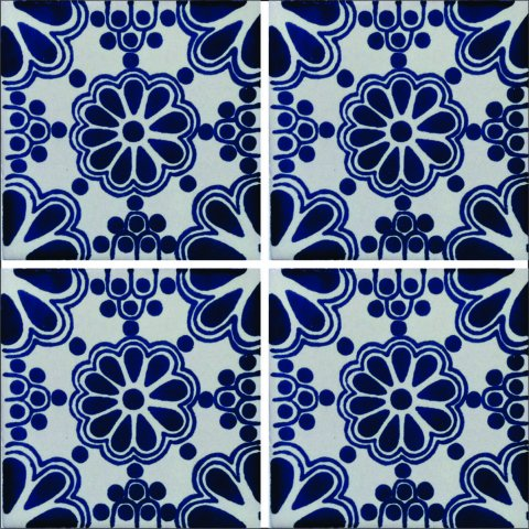 New Items / Talavera Tile 4x4 inch (90 pieces) - Style AZ045 / These beatiful handpainted Mexican Talavera tiles will give a colorful decorative touch to your bathrooms, vanities, window surrounds, fireplaces and more.