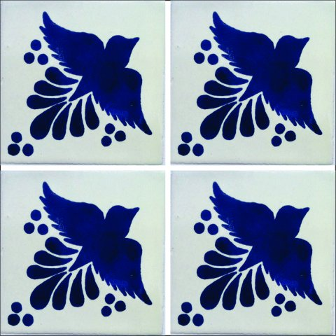 New Items / Talavera Tile 4x4 inch (90 pieces) - Style AZ061 / These beatiful handpainted Mexican Talavera tiles will give a colorful decorative touch to your bathrooms, vanities, window surrounds, fireplaces and more.
