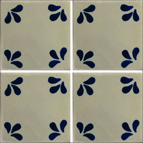 New Items / Talavera Tile 4x4 inch (90 pieces) - Style AZ066 / These beatiful handpainted Mexican Talavera tiles will give a colorful decorative touch to your bathrooms, vanities, window surrounds, fireplaces and more.