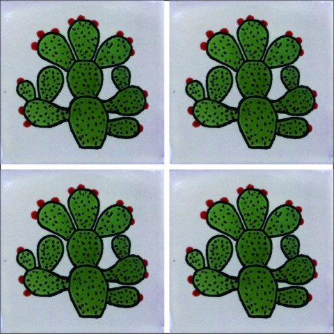 New Items / Talavera Tile 4x4 inch (90 pieces) - Style AZ081 / These beatiful handpainted Mexican Talavera tiles will give a colorful decorative touch to your bathrooms, vanities, window surrounds, fireplaces and more.