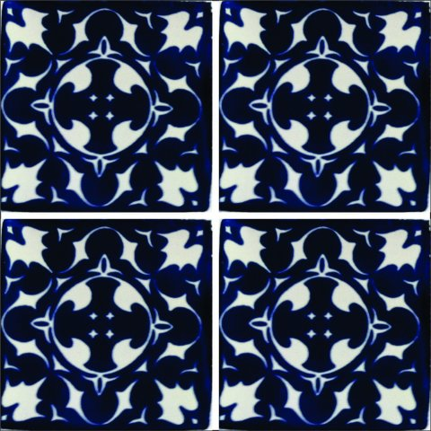 New Items / Talavera Tile 4x4 inch (90 pieces) - Style AZ103 / These beatiful handpainted Mexican Talavera tiles will give a colorful decorative touch to your bathrooms, vanities, window surrounds, fireplaces and more.
