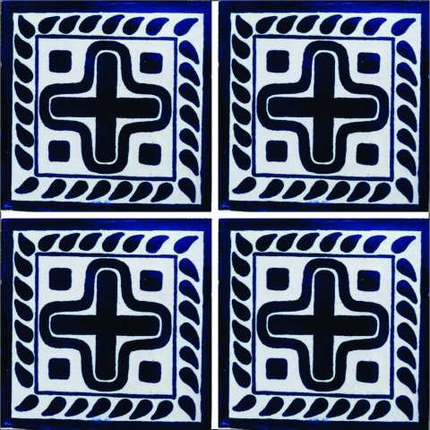 New Items / Talavera Tile 4x4 inch (90 pieces) - Style AZ124 / These beatiful handpainted Mexican Talavera tiles will give a colorful decorative touch to your bathrooms, vanities, window surrounds, fireplaces and more.