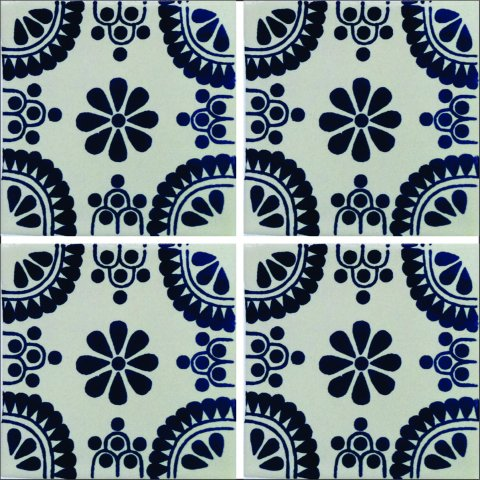 New Items / Talavera Tile 4x4 inch (90 pieces) - Style AZ131 / These beatiful handpainted Mexican Talavera tiles will give a colorful decorative touch to your bathrooms, vanities, window surrounds, fireplaces and more.