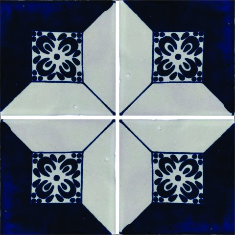 New Items / Talavera Tile 4x4 inch (90 pieces) - Style AZ138 / These beatiful handpainted Mexican Talavera tiles will give a colorful decorative touch to your bathrooms, vanities, window surrounds, fireplaces and more.