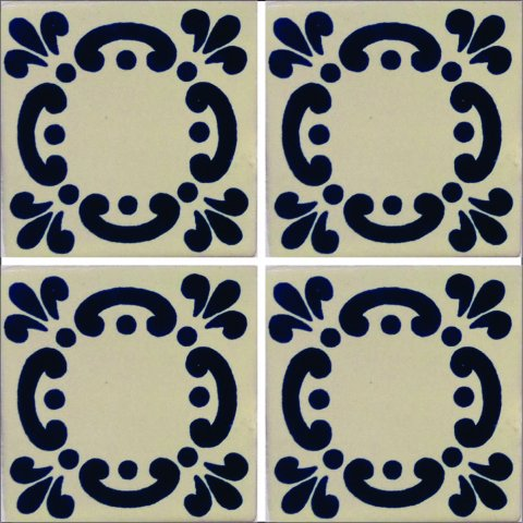 New Items / Talavera Tile 4x4 inch (90 pieces) - Style AZ169 / These beatiful handpainted Mexican Talavera tiles will give a colorful decorative touch to your bathrooms, vanities, window surrounds, fireplaces and more.