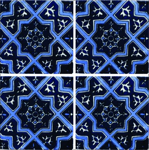 New Items / Talavera Tile 4x4 inch (90 pieces) - Style AZ189 / These beatiful handpainted Mexican Talavera tiles will give a colorful decorative touch to your bathrooms, vanities, window surrounds, fireplaces and more.