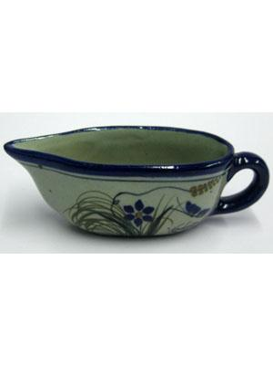 MEXICAN DINNERWARE - TROPICAL / 'Blue Rim Butterfly' Gravy boat