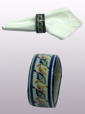 MEXICAN STONEWARE / 'Tropical' Napkin ring