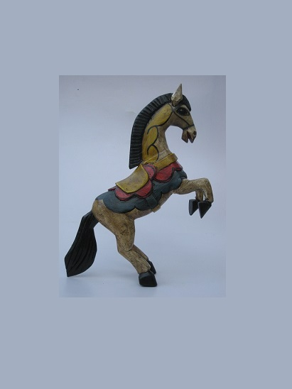 CARVED HORSES / Carved horse 13 inch tall handpainted / This beautiful horse was hand carved and hand painted by a skillful artisan in the state of Guanajuato in Mexico, and will be a great decoration for your house or your office.