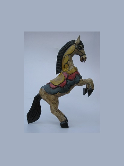 CARVED HORSES / Carved horse 14 inch tall handpainted / This beautiful horse was hand carved and hand painted by a skillful artisan in the state of Guanajuato in Mexico, and will be a great decoration for your house or your office.