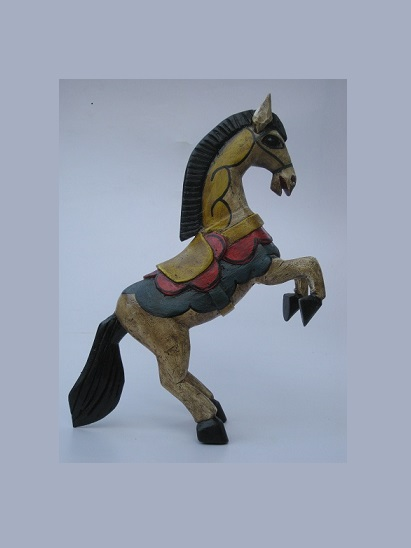 CARVED HORSES / Carved horse 16 inch tall handpainted / This beautiful horse was hand carved and hand painted by a skillful artisan in the state of Guanajuato in Mexico, and will be a great decoration for your house or your office.