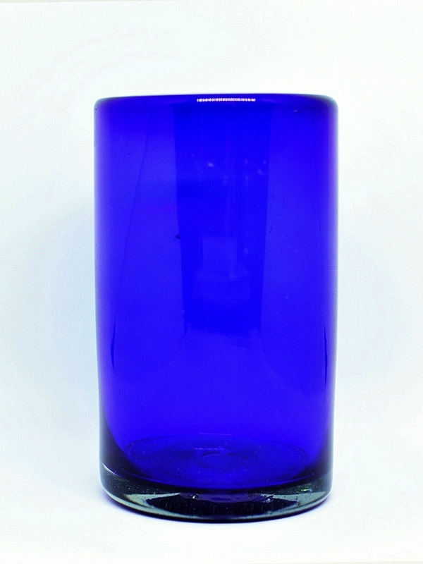 New Items / Solid Cobalt Blue drinking glasses (set of 6) / These handcrafted glasses deliver a classic touch to your favorite drink.