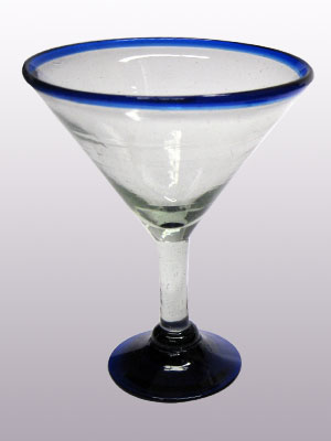 Sale Items / 'Cobalt Blue Rim' martini glasses (set of 6) / This wonderful set of martini glasses will bring a classic, mexican touch to your parties.