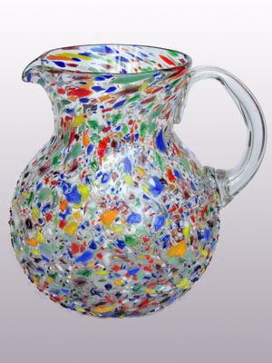 'Confetti rocks' blown glass pitcher