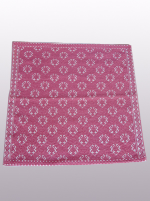 HANDBAGS / Handwoven pillow cover - Toads in Antique Rose