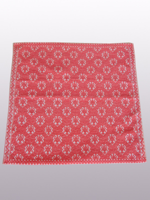 HANDBAGS / Handwoven pillow cover - Toads in Cranberry Pink