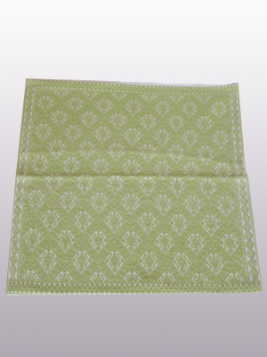 HANDBAGS / Handwoven pillow cover - Toads in Pale Green