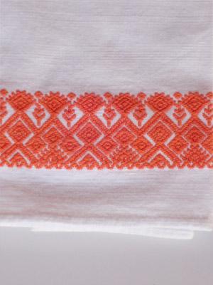 MEXICAN TEXTILES Orange Handwoven Hand Towel