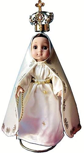 MARIA CONTIGO / Our Lady of Fatima 10'' Doll with Rosary / Virgin Mary Mexican Doll, by Maria Contigo Ostler Collection