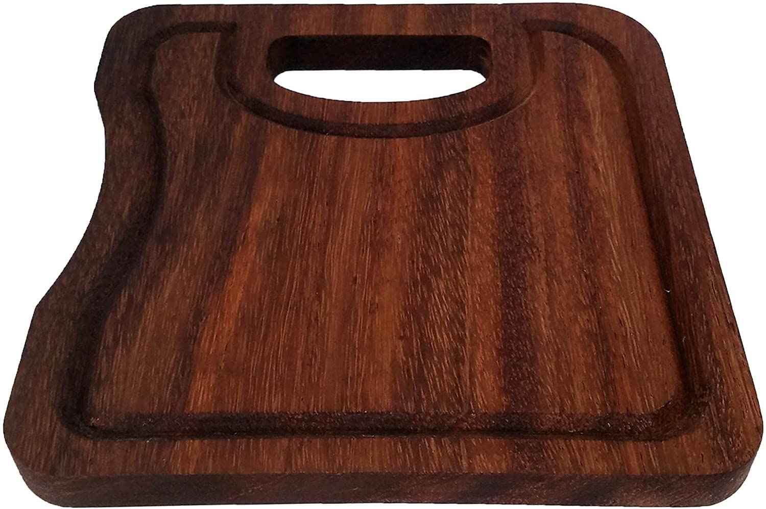 PAROTA WOOD PRODUCTS / Small Parota Wood Serving/Cutting Board with Juice Groove
