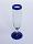 'Cobalt Blue Rim' champagne flutes (set of 6)