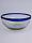 'Cobalt Blue Rim' large snack bowl set (3 pieces)