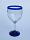 'Cobalt Blue Rim' wine glasses (set of 6)