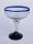 'Cobalt Blue Rim' margarita glasses (set of 6)