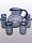 'Cobalt Blue Spiral' pitcher and 6 drinking glasses set