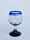 'Cobalt Blue Rim' stemmed tequila sippers (set of 6)