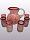 'Ruby Red Spiral' pitcher and 6 drinking glasses set