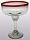'Ruby Red Rim' large margarita glasses (set of 6)